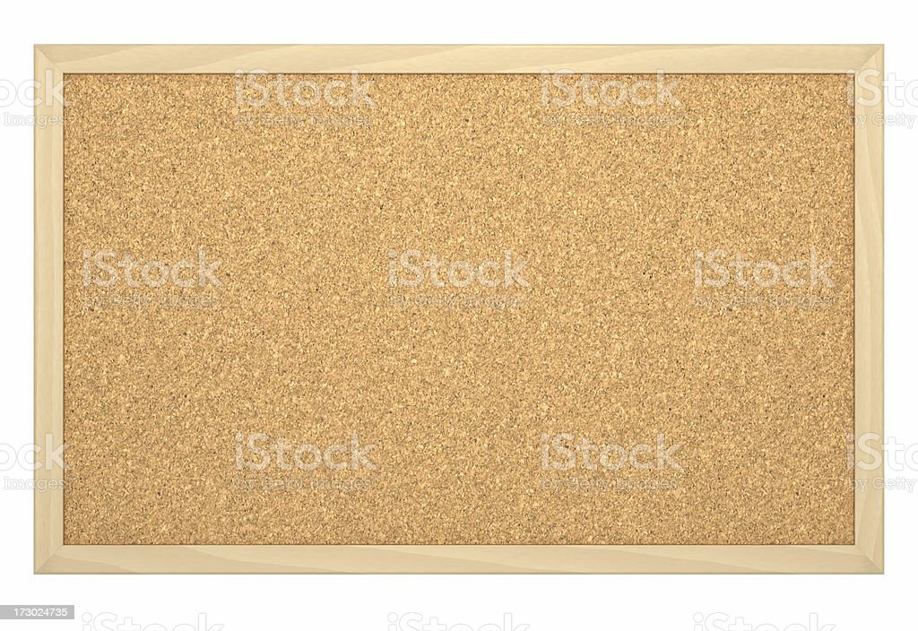 Cork Board with Frame [empty] royalty-free stock photo