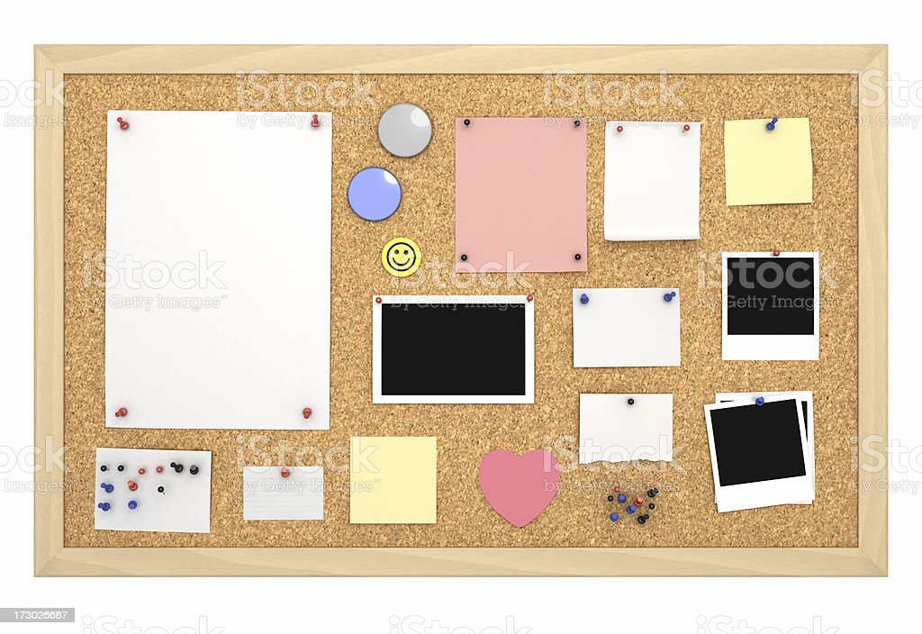 Cork Board with Frame [filled] royalty-free stock photo