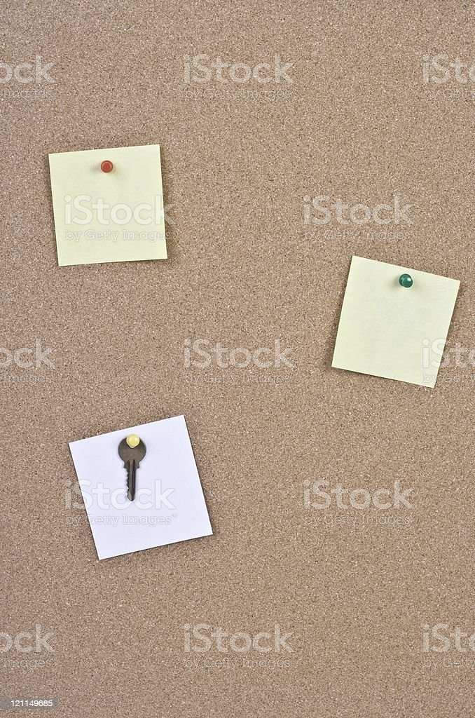 cork bulletin board royalty-free stock photo
