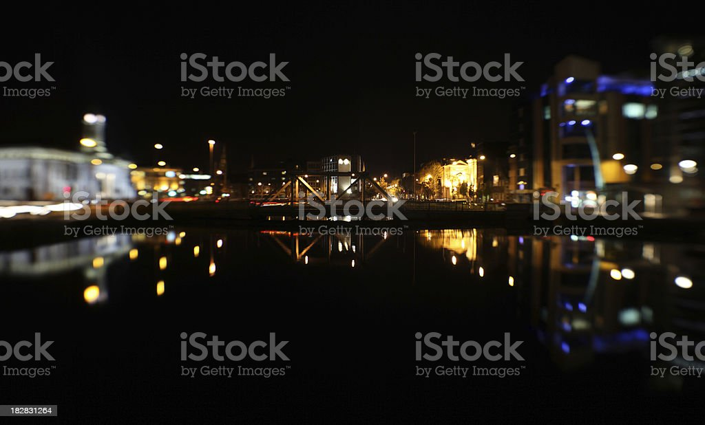 cork city at night stock photo