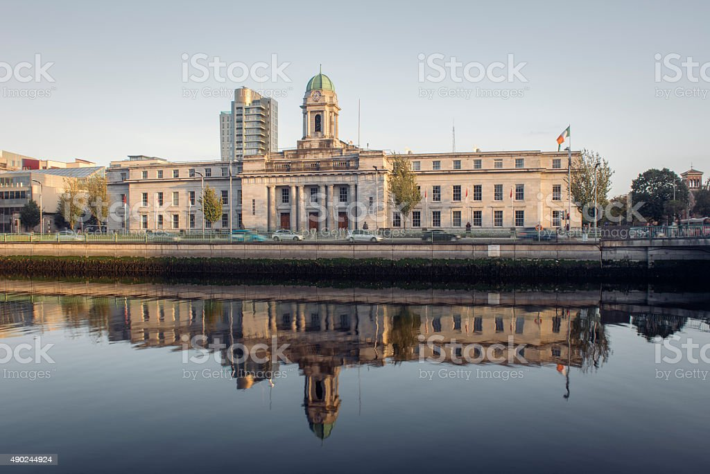 Cork City Hall in Cork, Ireland. stock photo