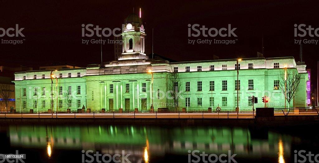 Cork City Hall - St. Patrick's Day royalty-free stock photo