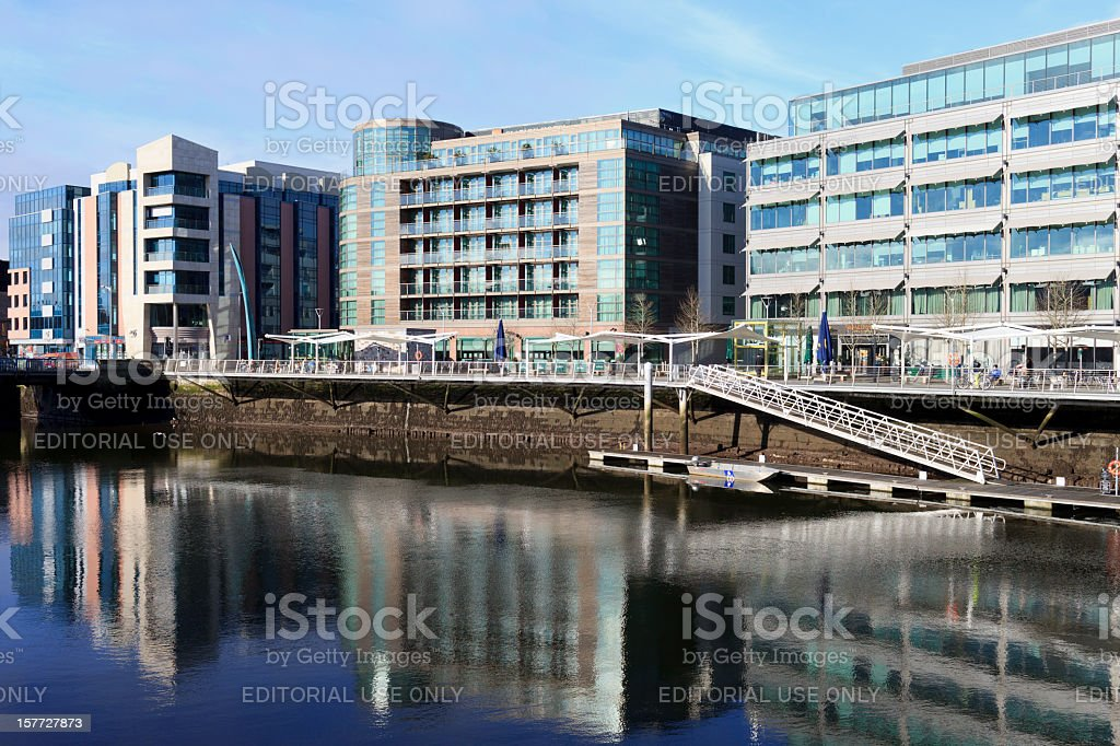 Cork City waterfront royalty-free stock photo