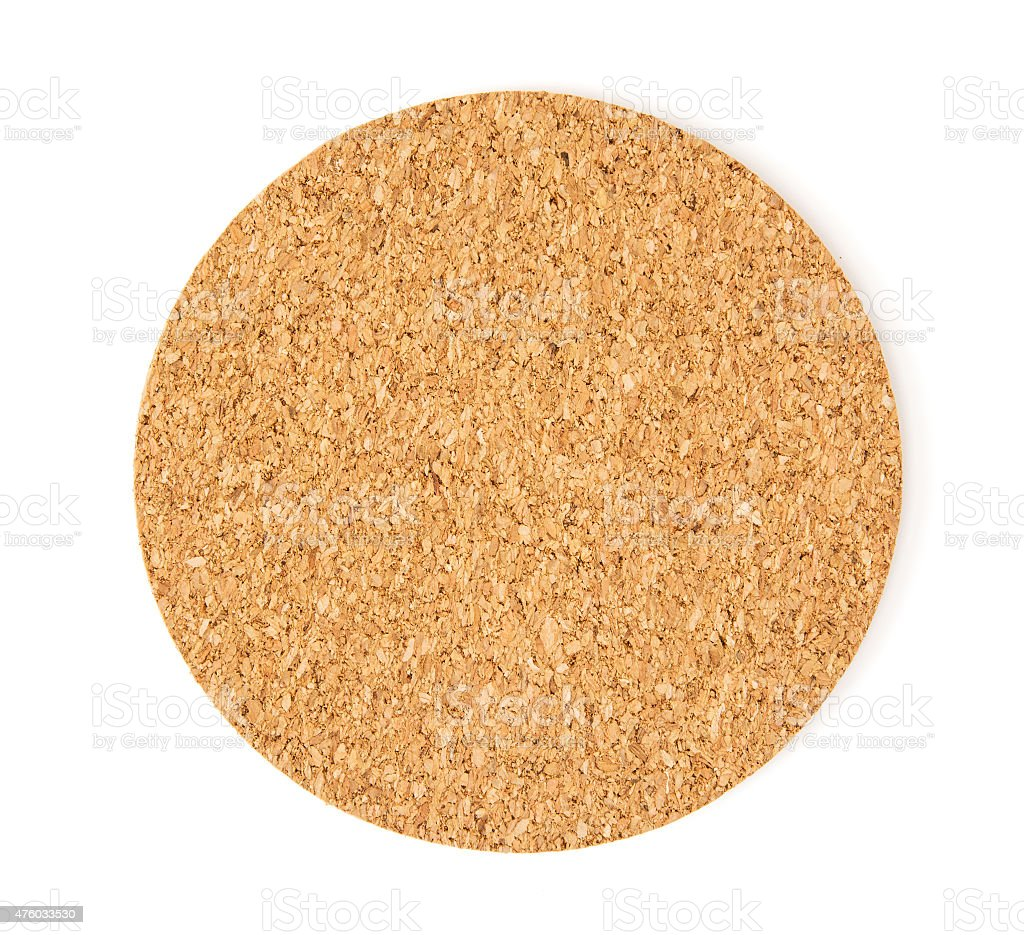 Cork drink coaster stock photo