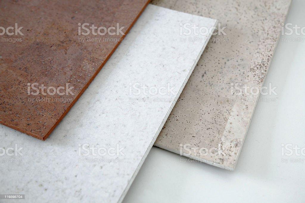 Cork flooring stock photo