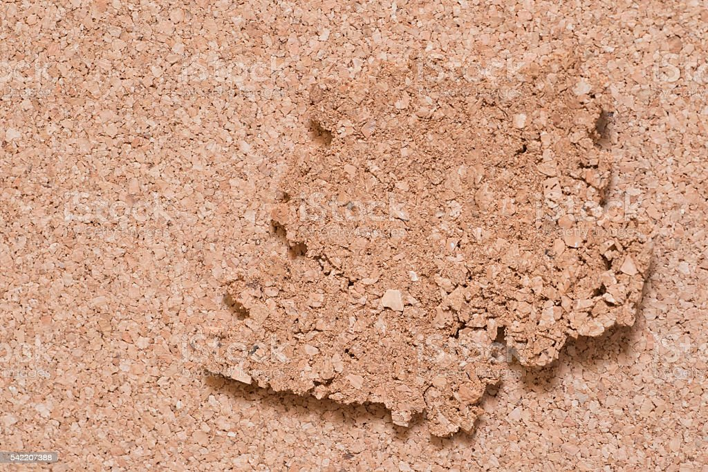 Cork Flooring, underlayment, soundproofing stock photo