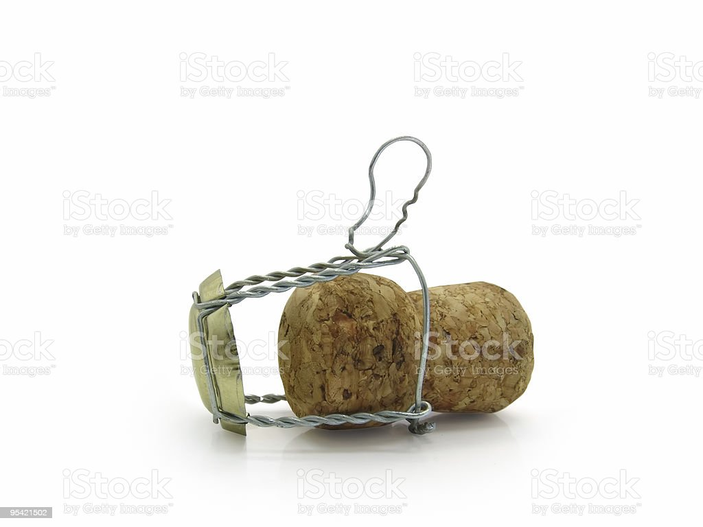 Cork from a champagne royalty-free stock photo