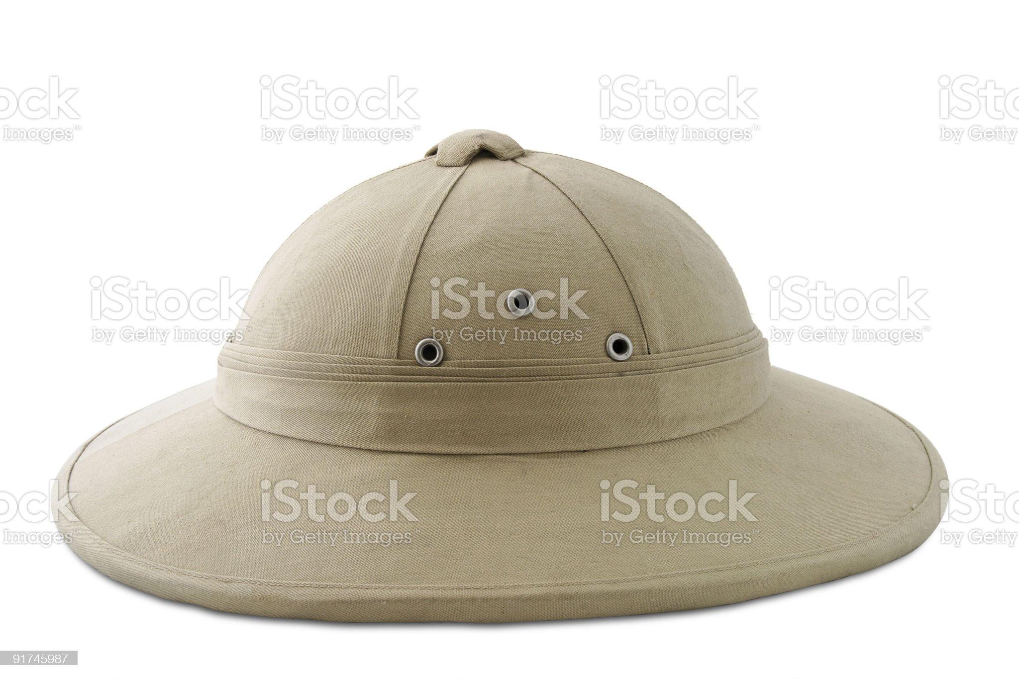 cork helmet royalty-free stock photo