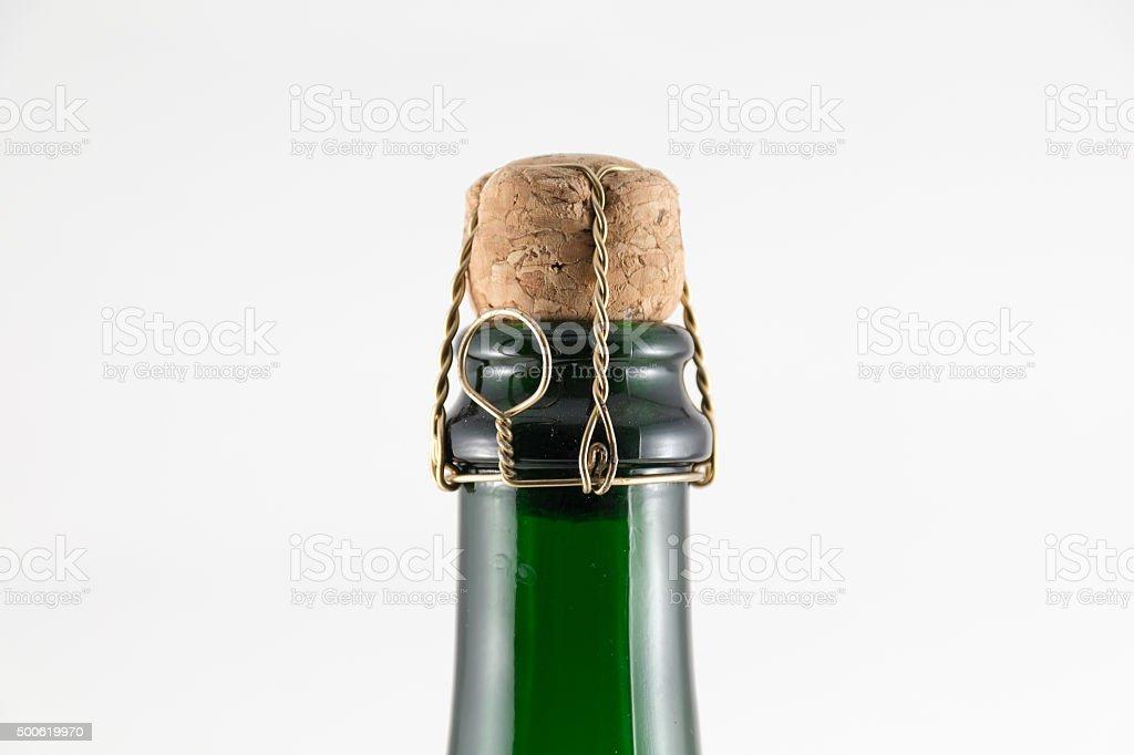 Cork in Chanpagne Bottle stock photo