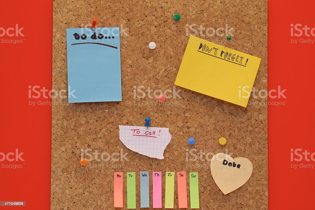 Cork pinboard royalty-free stock photo