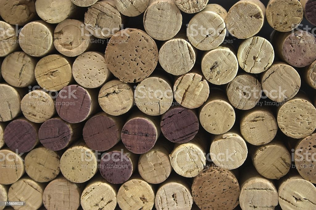 Cork Stack royalty-free stock photo