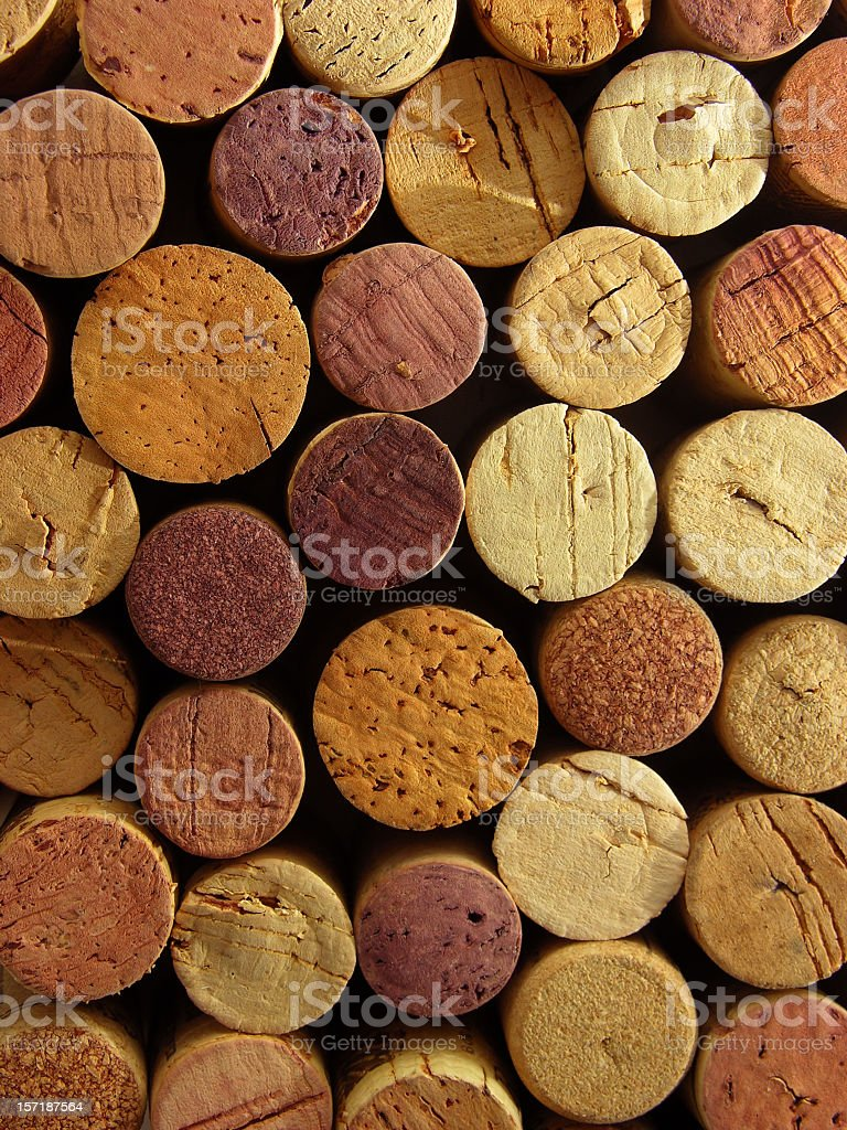 Cork tops background stock photo