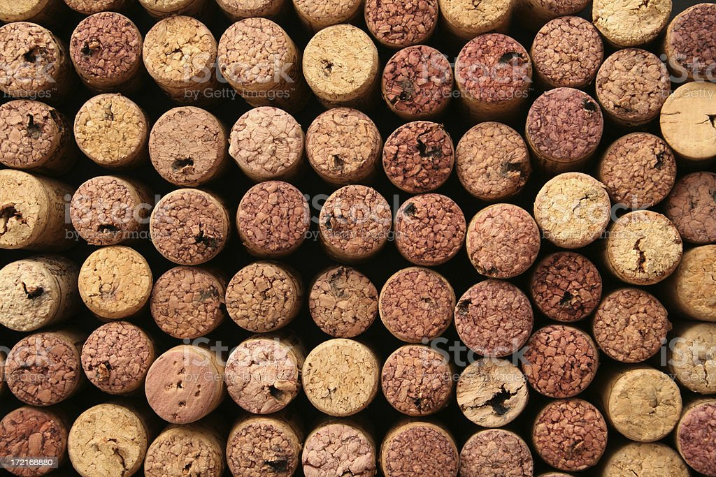 Cork tops background royalty-free stock photo