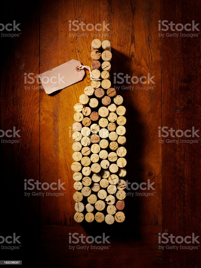 Cork Wine Bottle stock photo