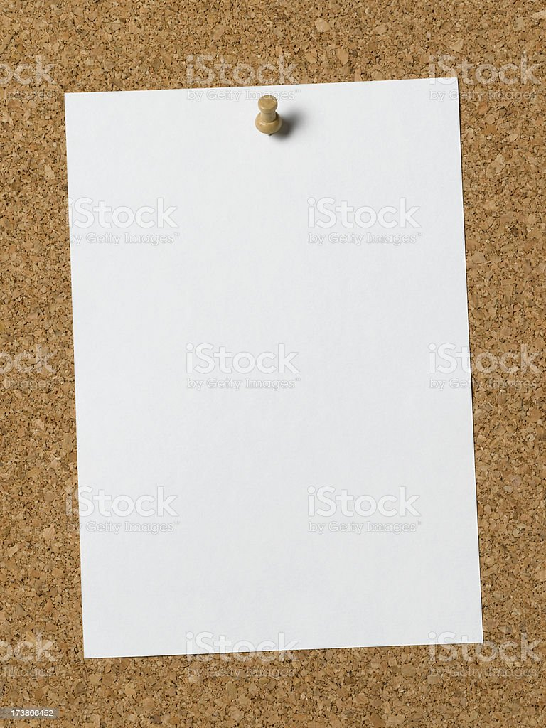 cork with paper royalty-free stock photo