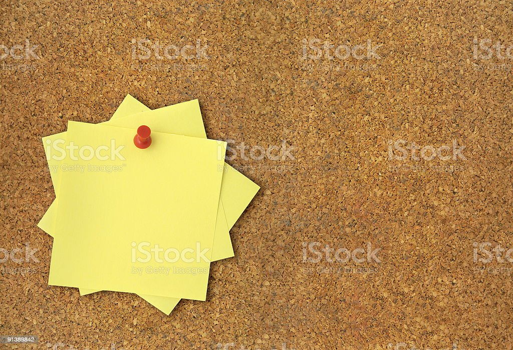 corkboard and adhesive notes XXL stock photo