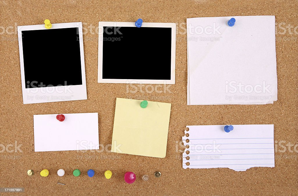 Corkboard Interface Grunge stock photo