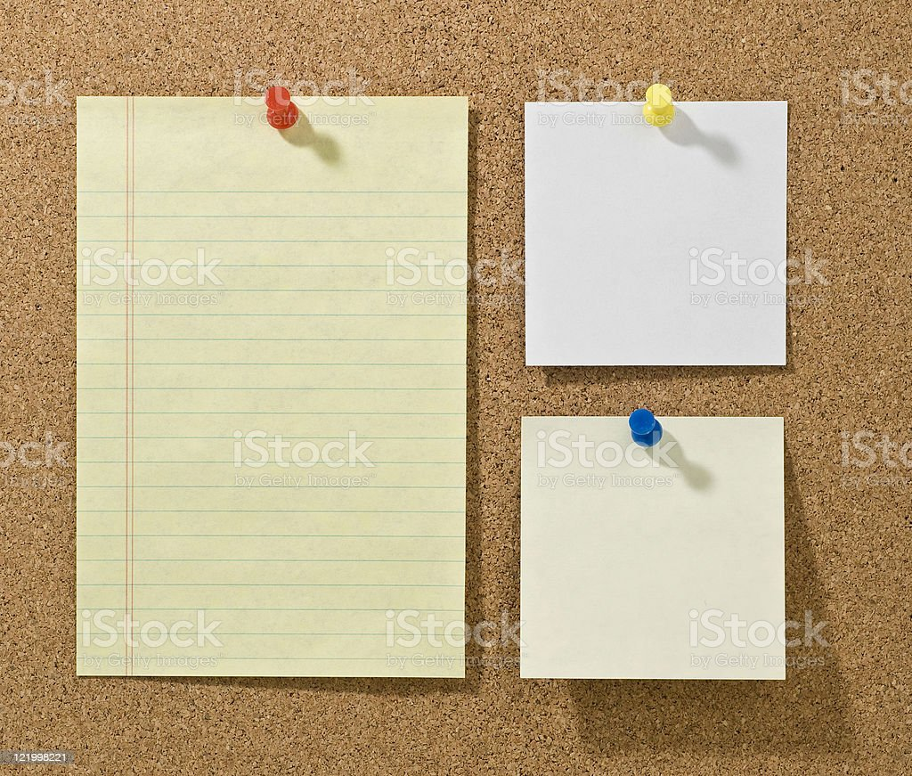 Corkboard With Blank Notes royalty-free stock photo