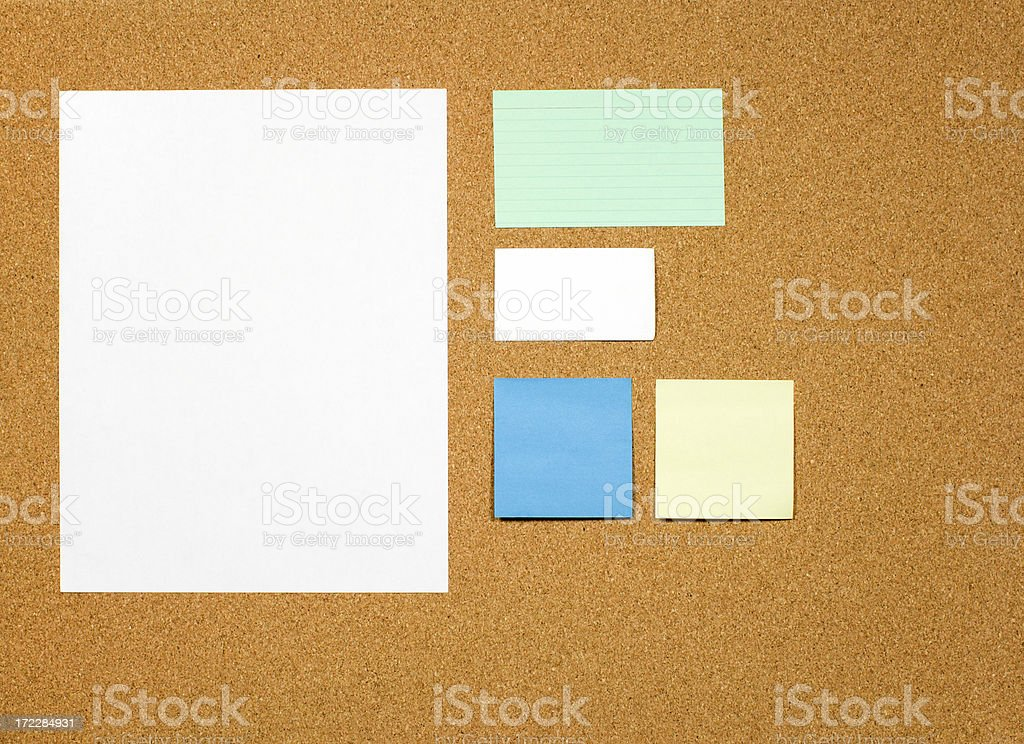 Corkboard with Bulletin Items royalty-free stock photo
