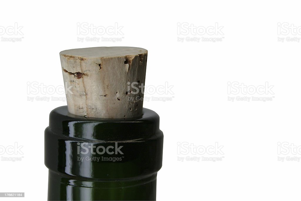 Corked royalty-free stock photo