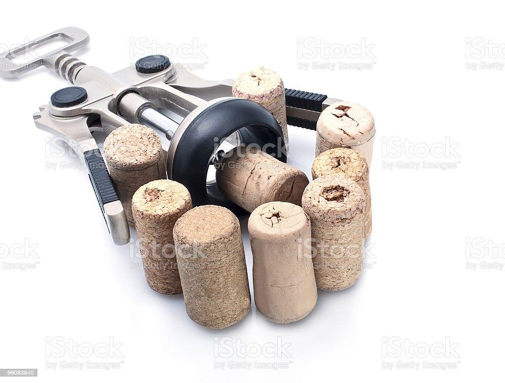 Corks And Corkscrew stock photo