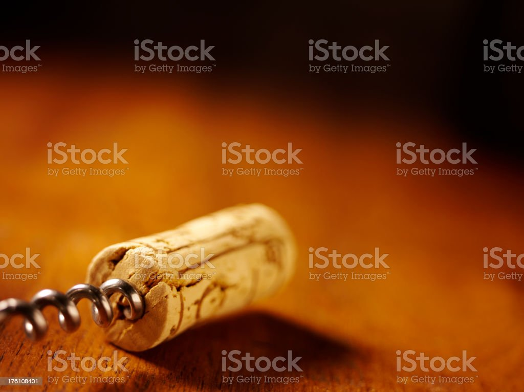 Corks and Opener on a Table royalty-free stock photo