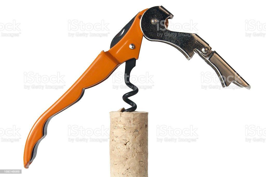 corks & corkscrew royalty-free stock photo