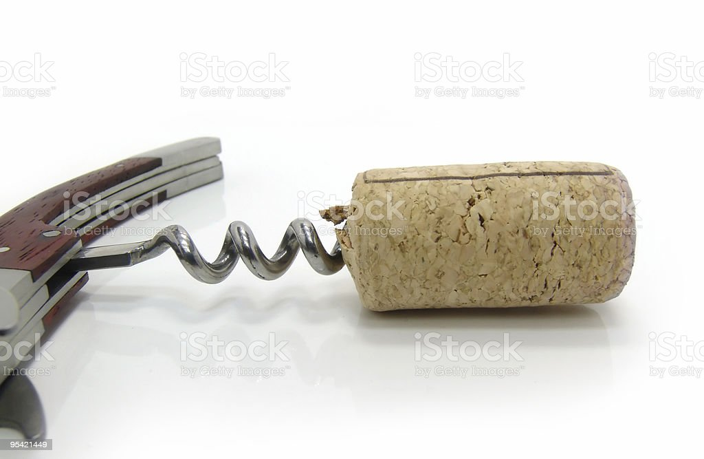 Corkscrew and fuse royalty-free stock photo