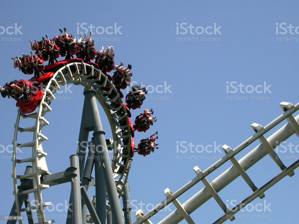 Corkscrew Loop 2 stock photo