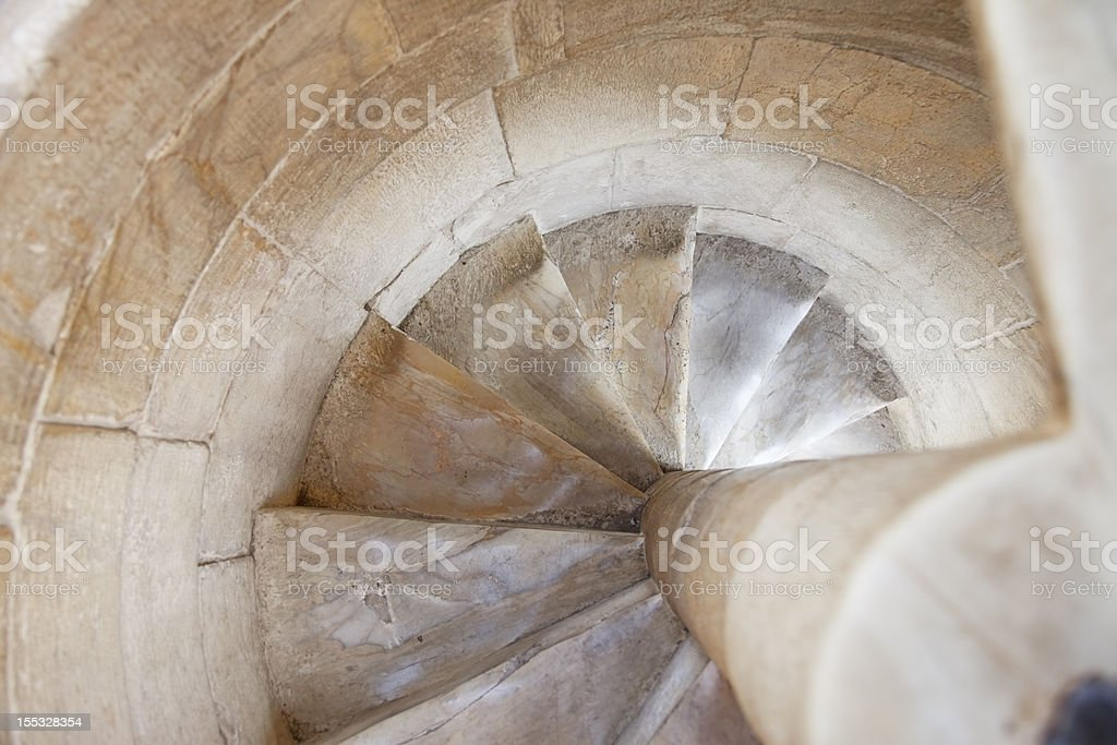 Corkscrew staircase. royalty-free stock photo