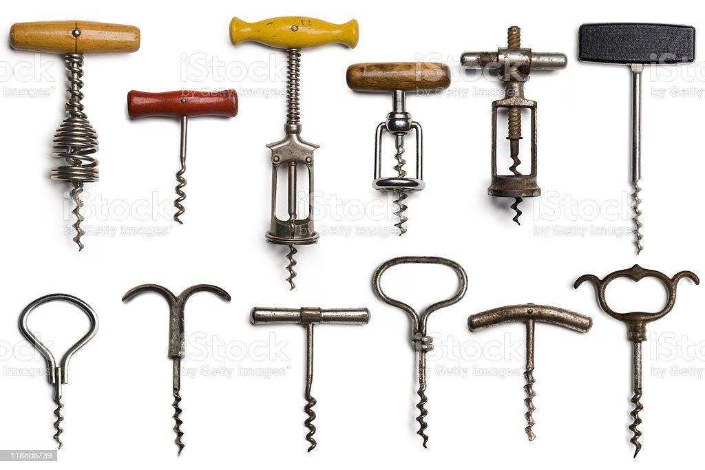 corkscrews stock photo