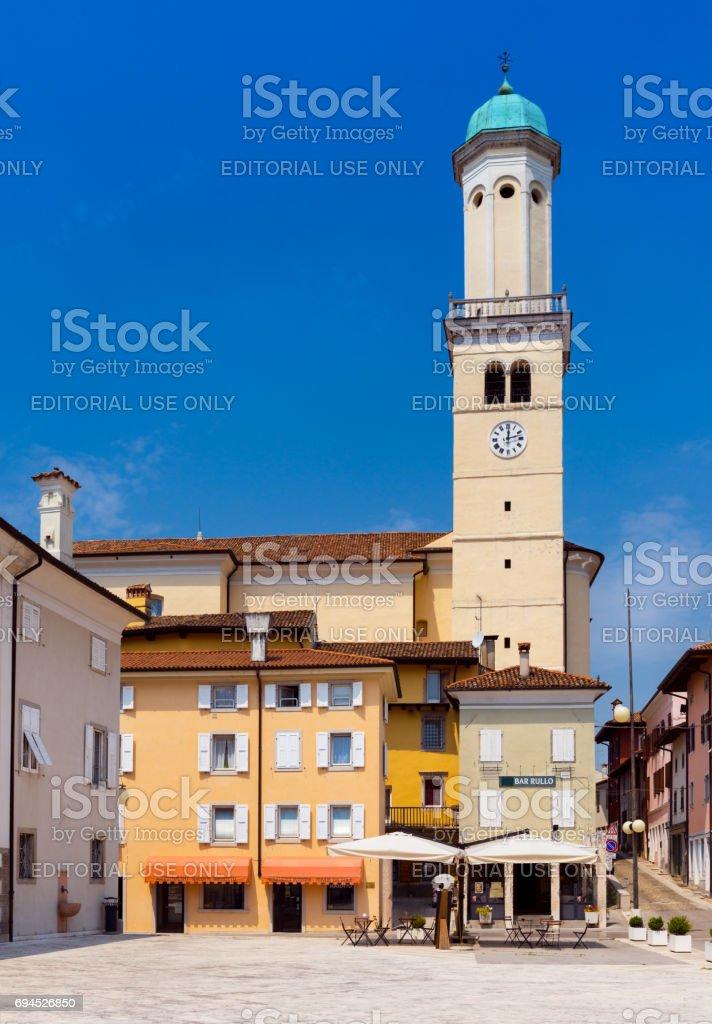 Cormons -  May of 2015, Gorizia region, Italy: Church on The Square 24 of May, Piazza 24 Maggio stock photo