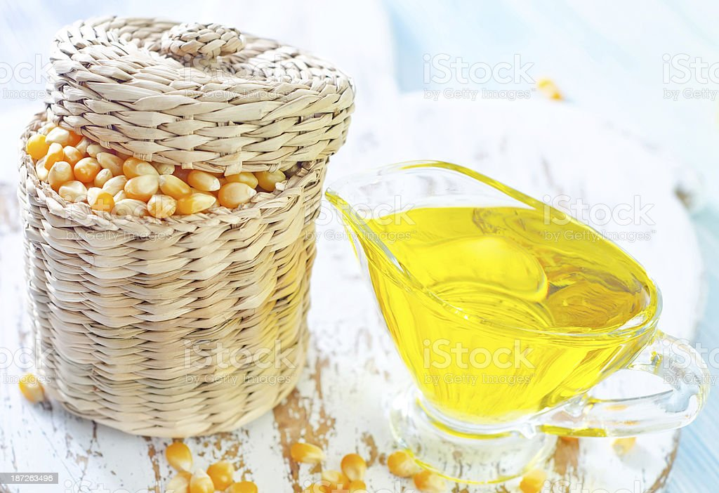 corn and oil royalty-free stock photo