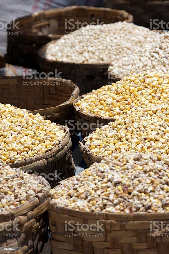 Corn baskets royalty-free stock photo