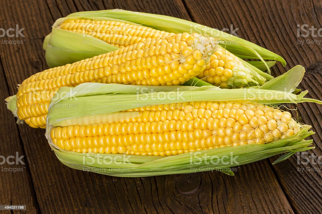 corn cob sweet maize stock photo