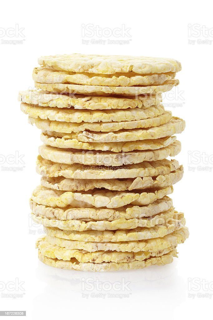 Corn diet cakes stack royalty-free stock photo