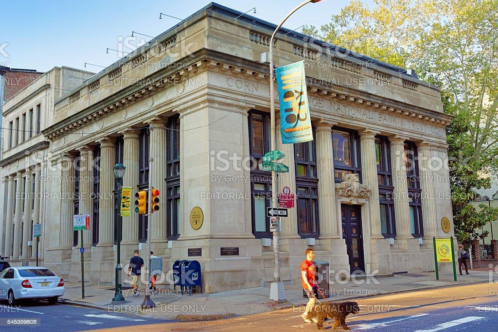 Corn Exchange National Bank Trust Company in Philadelphia stock photo