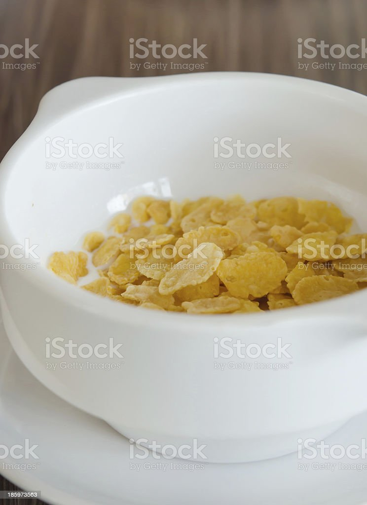 corn flake cereal with milk royalty-free stock photo