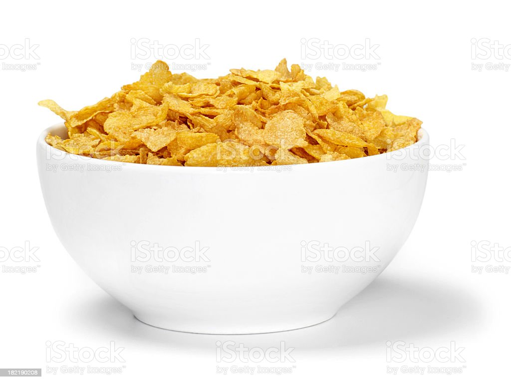 Corn Flaked Breakfast Cereal stock photo