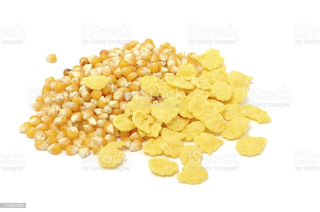 Corn Flakes And Kernels royalty-free stock photo