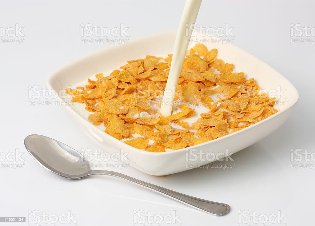 Corn Flakes and Milk stock photo