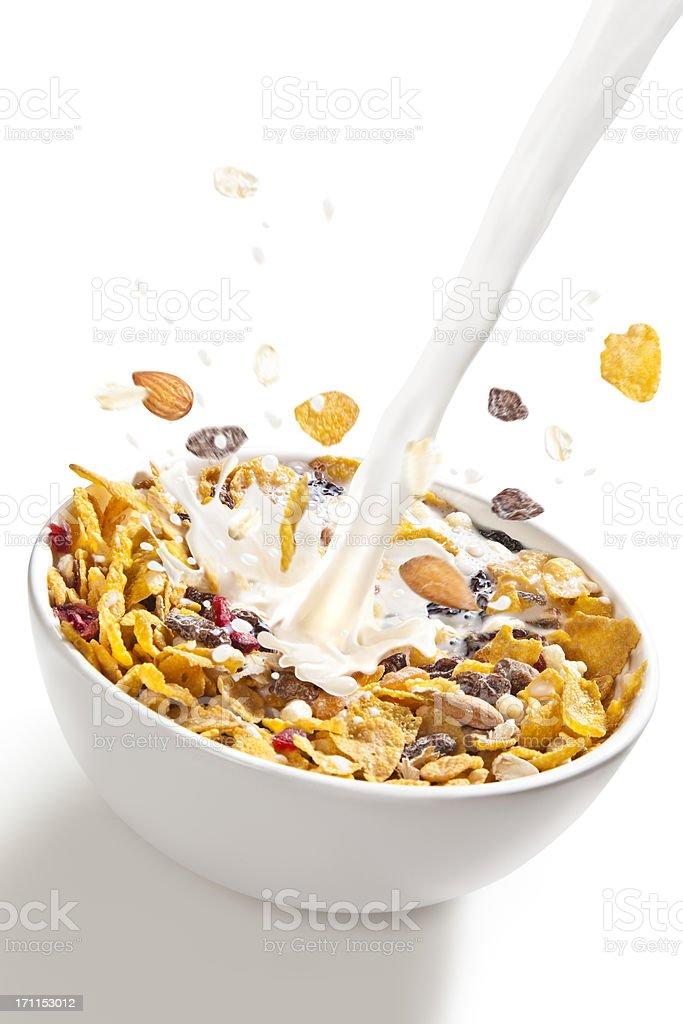 Corn flakes stock photo
