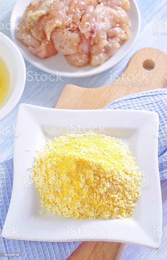 corn flour and meat stock photo