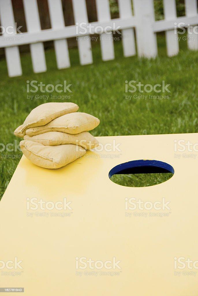 Corn Hole Game stock photo
