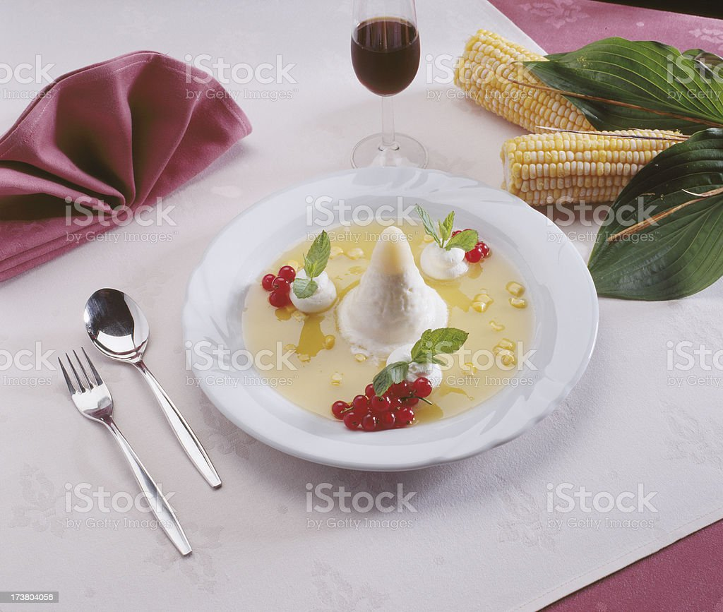 Corn icecream desert royalty-free stock photo