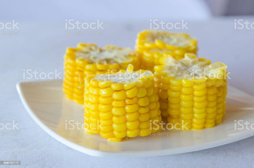 corn in dish stock photo