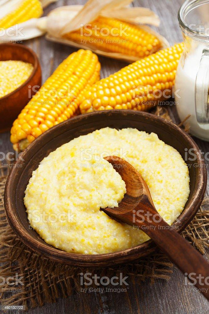 Corn meal stock photo