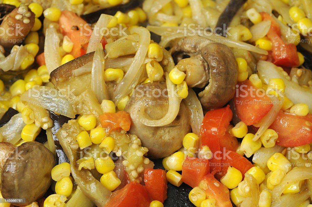 corn mushroom relish stock photo