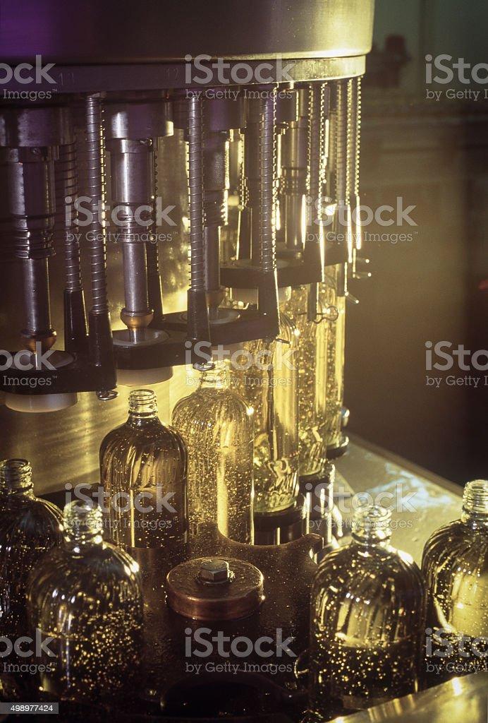 Corn Oil Factory stock photo