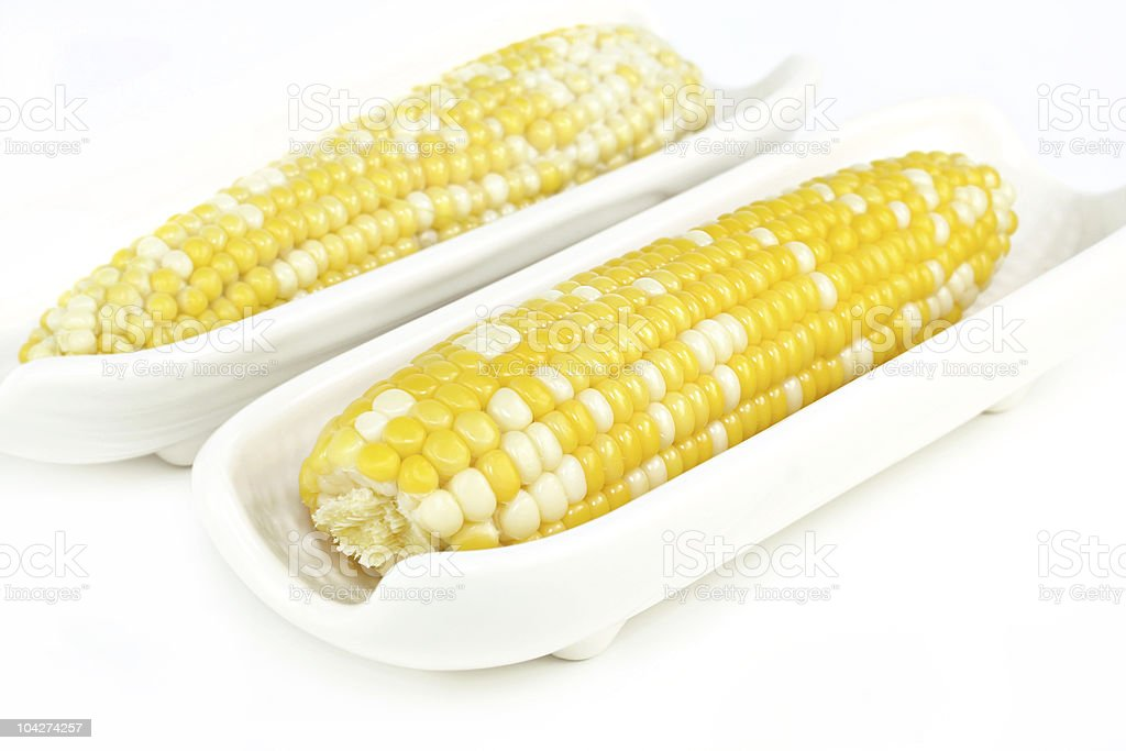 Corn on the Cob, Husked stock photo